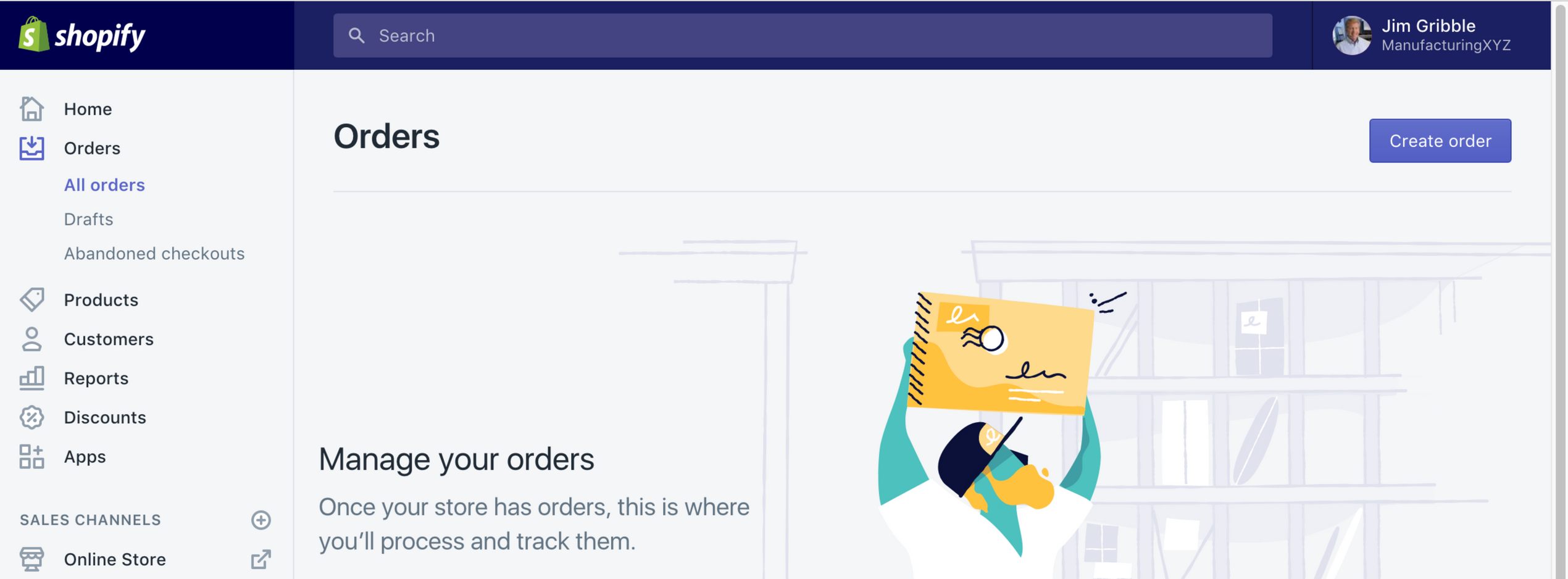 Shopify Orders Screenshot