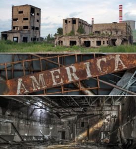 America's industrial heartland became the 'rust belt'.