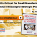 Why it's Critical Small Manufacturers Conduct Meaningful Strategic Planning [Free Guide]